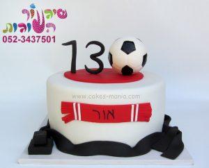 עוגת בר מצווה כדורגל
