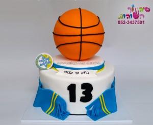 עוגת בר מצווה כדורסל