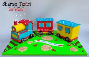עוגת רכבת תלת מימד