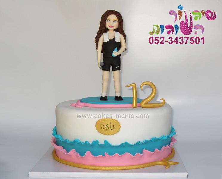עוגת בת מצווה לנערה שאוהבת ספורט