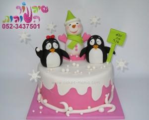 עוגת פים ופימבה עם איש שלג