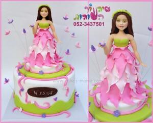 עוגת נסיכת פרחים