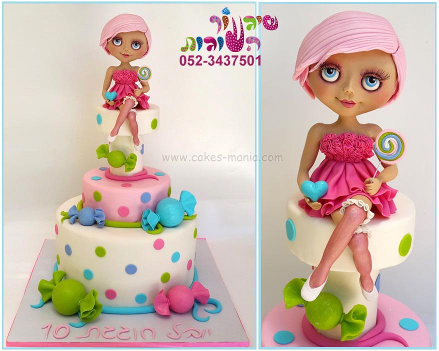 עוגת בובת בלית' blythe doll cake