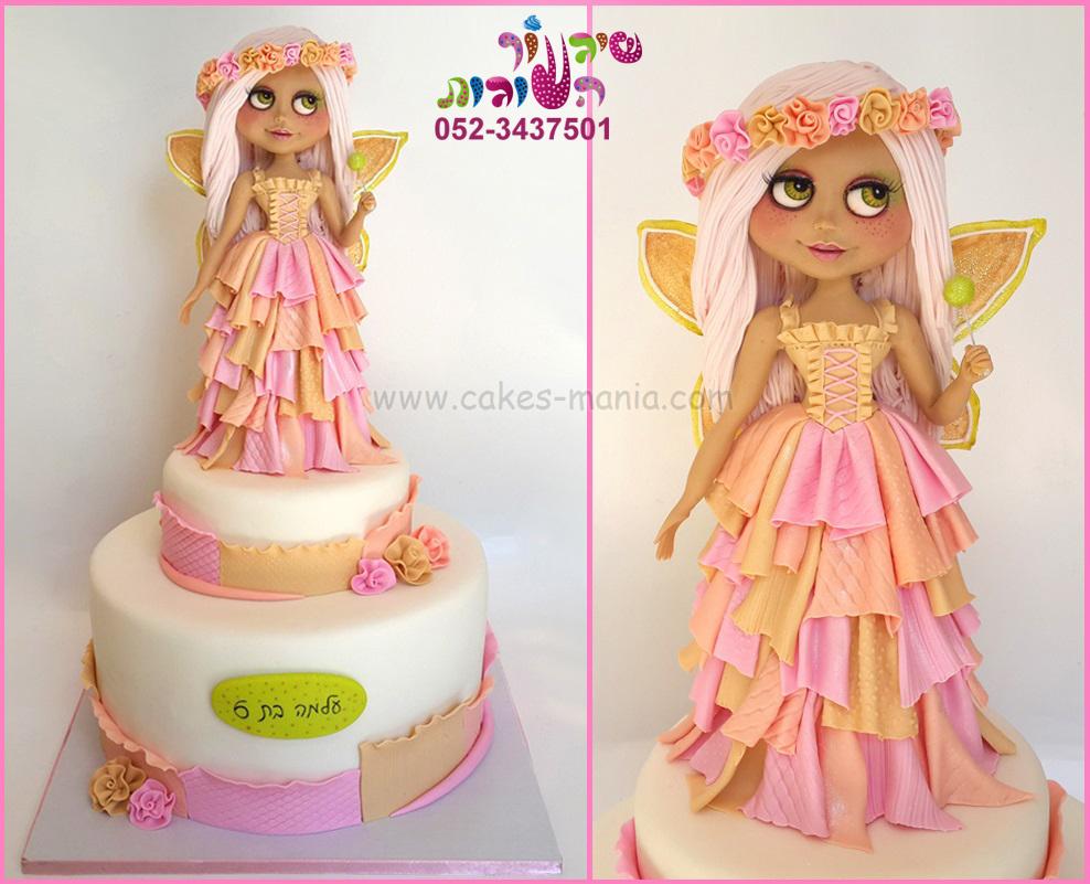 עוגת בובת בלית' פייה blythe doll cake