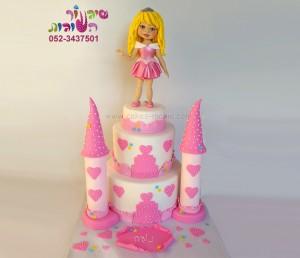 עוגת טירה ונסיכה אורורה ילדה