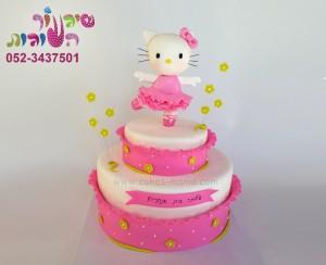 עוגת קיטי בלרינה ורודה