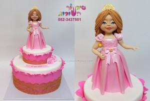 עוגת ילדה נסיכה