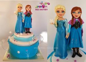 עוגת פרוזן (7) אלזה ואנה