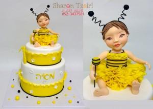 עוגת תינוקת הדבורה מאיה 2
