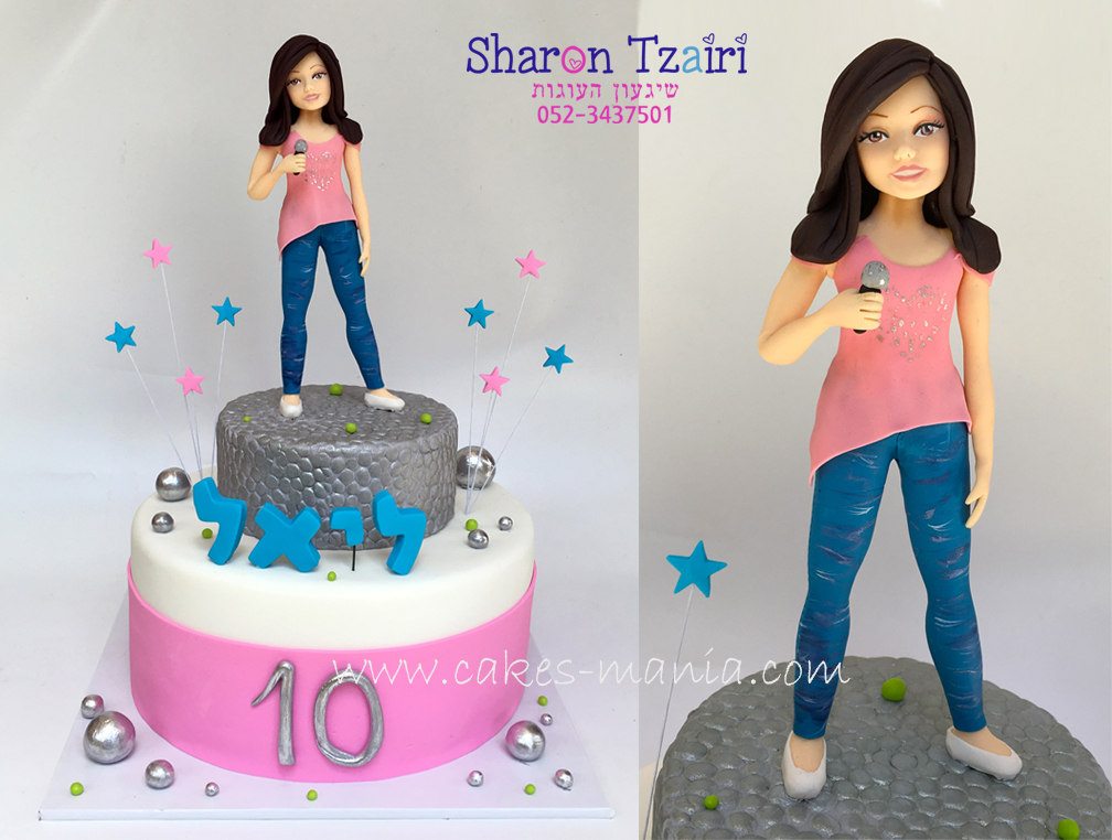 עוגה לילדה שאוהבת לשיר