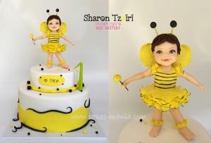 עוגת תינוקת הדבורה מאיה 1
