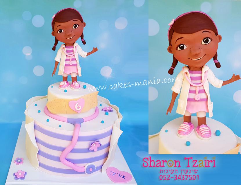 עוגת דוק רופאת הצעצועים doc mcstuffins cake