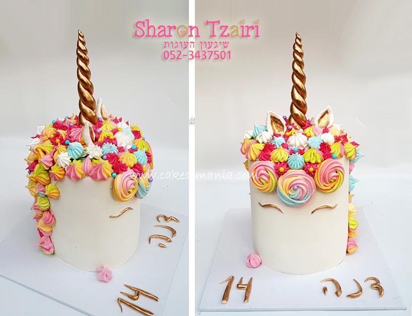 עוגת חד קרן 5 unicorn cake