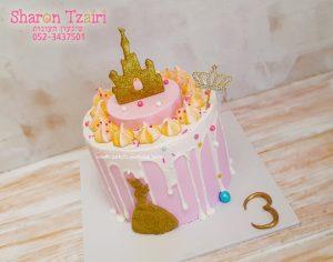 עוגה נסיכותית, עדינה ומודרנית ליום הולדת 3