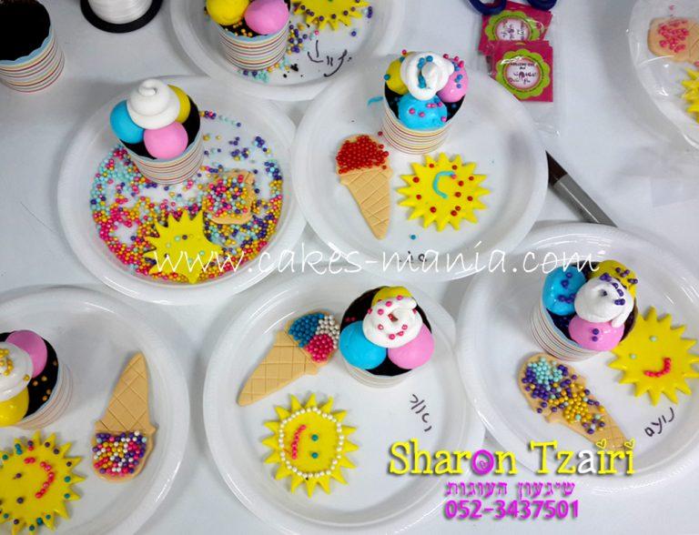 הפעלה מתוקה מבצק סוכר ליום הולדת לילדים בנושא קיץ וגלידה