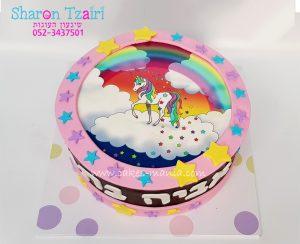עוגת חד קרן unicorn cake