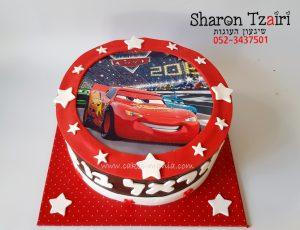 עוגת מכוניות ספידי מקווין