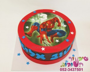 עוגה ללא ציפוי בצק סוכר עם תמונה דף סוכר מודפסת, עוגה לגן יום הולדת מודפסת, עוגת יום הולדת בזול
