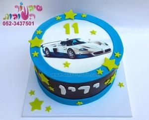 """עוגת מכונית מרוץ - 250 ש""""ח"""