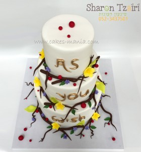 עוגת חתונה הנסיכה הקסומה