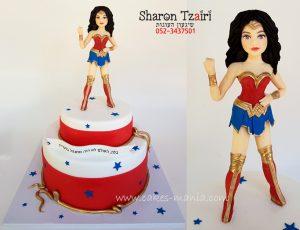עוגת וונדר וומן wonder woman cake