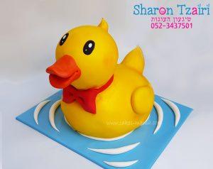 עוגת ברווז גומי בתלת מימד