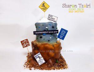 עוגת יום הולדת לחובב ספורט אתגרי