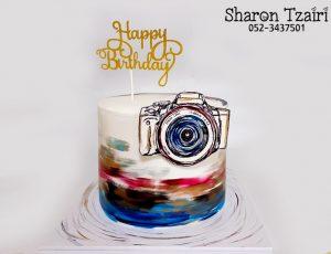 עוגת מצלמה בסגנון מודרני
