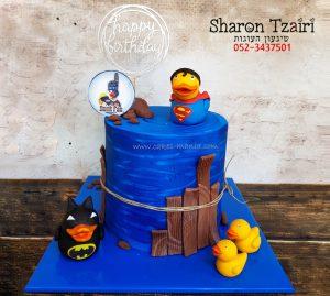 עוגת יום הולדת לבחור שיש לו אוסף ברווזוני גומי מכל העולם