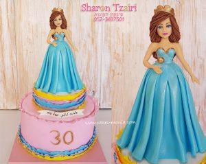 עוגת נסיכה לגיל 30