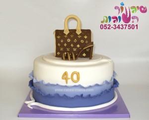 עוגה לאמא נעל עקב תיק לואי ויטון
