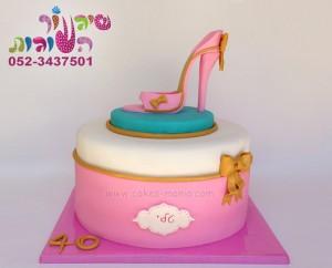 עוגה לאמא נעל עקב