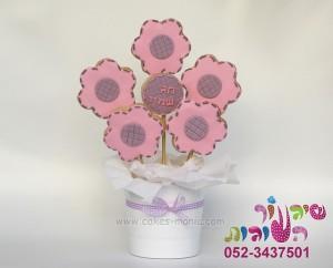 סוכריות פרחים מבצק סוכר