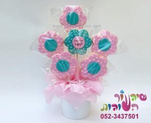 עציץ עוגיות פרחים ענק לחג להגיד תודה