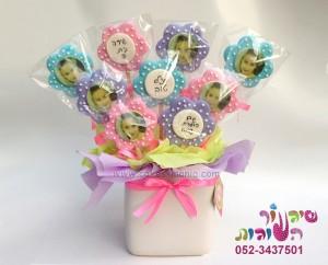 עציץ עוגיות פרחים ענק נסיכות דיסני עם תמונה