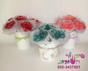 סוכריות פרחים במשיכת סוכר