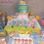 יום הולדת שולחן קונספט בנושא קיץ וים