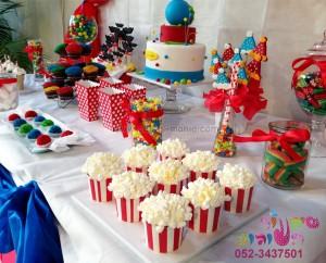 שולחן קונספט מתוק יום הולדת קירקס
