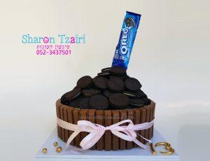 """עוגת עוגיות אוראו - 400 ש""""ח"""