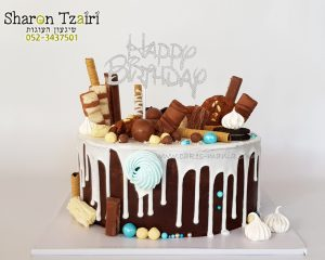 """עוגת טפטופים - שוקולד שחיתות - 2 תכלת 350 ש""""ח"""