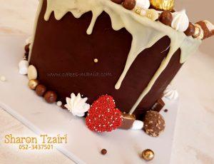 """עוגת יום הולדת מושתת לבן זוג (קוטר 16 320 ש""""ח) (קוטר 24 380 ש""""ח)"""