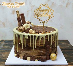 עוגת יוום הולדת שוקולדית לגבר