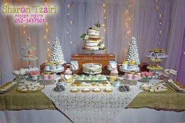 שולחן מתוק לחתונה ושולחן ברכות